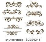 vintage floral motifs for... | Shutterstock .eps vector #80264245