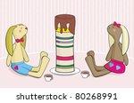 bunny's birthday   Shutterstock .eps vector #80268991