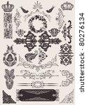 vector set  calligraphic design ... | Shutterstock .eps vector #80276134