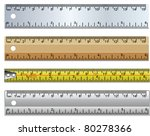 vector set rulers and measuring ... | Shutterstock .eps vector #80278366