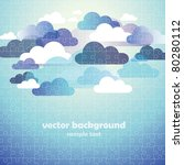 abstract cloud background... | Shutterstock .eps vector #80280112