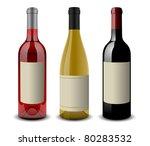 wine bottle set eps10
