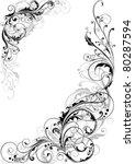 swirl floral design   Shutterstock .eps vector #80287594