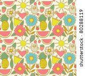 cute seamless pattern with... | Shutterstock .eps vector #80288119