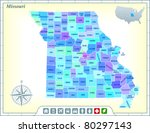 missouri state map with...   Shutterstock .eps vector #80297143