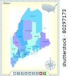 maine state map with community...   Shutterstock .eps vector #80297173