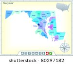 maryland state map with...   Shutterstock .eps vector #80297182