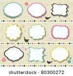 scrapbook elements. various... | Shutterstock .eps vector #80300272