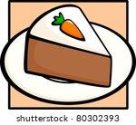 carrot cake slice | Shutterstock .eps vector #80302393