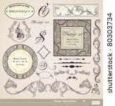 vector set. calligraphic design ... | Shutterstock .eps vector #80303734