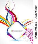 abstract colorful rainbow... | Shutterstock .eps vector #80305309