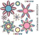 colorful abstract vector flower ... | Shutterstock .eps vector #80312014