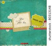 blue scrap template   Shutterstock .eps vector #80313148