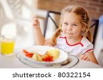little smiling girl have a... | Shutterstock . vector #80322154