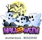 halloween sign and image 1  ... | Shutterstock .eps vector #80323540