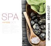 spa concept  zen stones  sea... | Shutterstock . vector #80341537