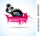 colour grunge summer the poster | Shutterstock .eps vector #80343085