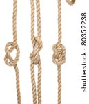 Close Up Ship Ropes With A Kno...