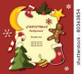 christmas background. vector... | Shutterstock .eps vector #80363854