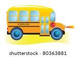school bus. back to school. | Shutterstock .eps vector #80363881