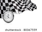 checkered flag with a stopwatch ... | Shutterstock .eps vector #80367559