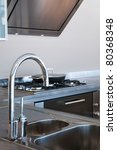 water tap and sink in a modern... | Shutterstock . vector #80368348