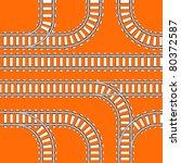 seamless background of railway... | Shutterstock .eps vector #80372587