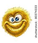 fluffy smiley on white | Shutterstock .eps vector #80374333