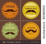 retro mustache vintage fancy... | Shutterstock .eps vector #80380003