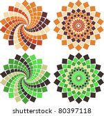 Vector Mosaic Flower In...