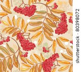 seamless autumn pattern with... | Shutterstock .eps vector #80398072