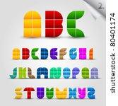 colorful decorative alphabet set | Shutterstock .eps vector #80401174