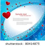 heart background | Shutterstock .eps vector #80414875