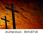 cross silhouette with the... | Shutterstock . vector #80418718