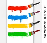 colorful paint brushes leaving... | Shutterstock .eps vector #80420311