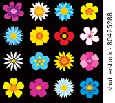 set of colorful flowers  each... | Shutterstock .eps vector #80425288