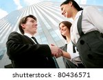 image of business partners... | Shutterstock . vector #80436571