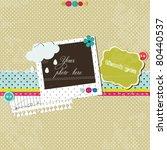 bright scrap template | Shutterstock .eps vector #80440537