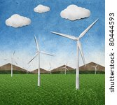 wind power station recycled... | Shutterstock . vector #80444593