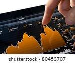 touching stock market graph on... | Shutterstock . vector #80453707