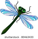 Dragonfly With A Green Body ...
