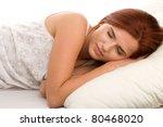 sleeping woman   Shutterstock . vector #80468020