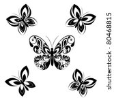 Stock vector butterfly vector set 80468815