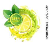 slices yellow lemon with drops... | Shutterstock .eps vector #80470429