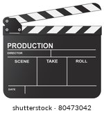 vector illustration of clapboard | Shutterstock .eps vector #80473042