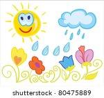 vector illustration   sunny...