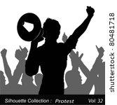 a demonstrator shouting... | Shutterstock .eps vector #80481718