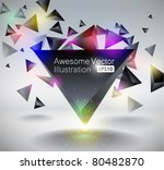 black pyramid 3d illustration.... | Shutterstock .eps vector #80482870