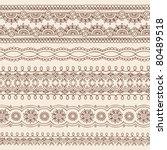 hand drawn henna mehndi tattoo... | Shutterstock .eps vector #80489518