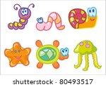 vector illustration   funny... | Shutterstock .eps vector #80493517